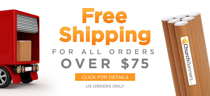 free banner shipping