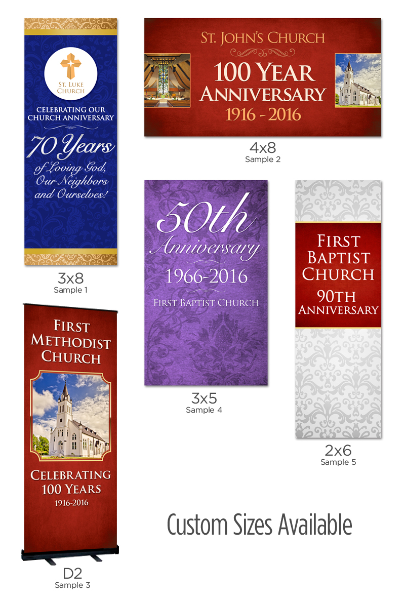 anniversary banners made for churches