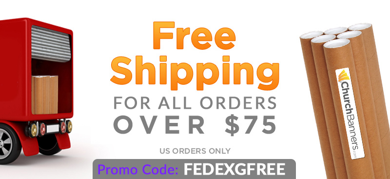 church banners special on free shipping