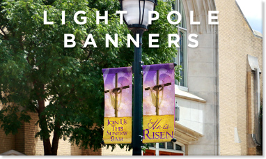 light pole banners designs for easter