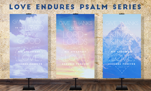 banners inspired by the psalm
