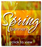 spring worship banners