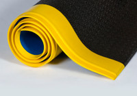 Black With Yellow Border - Pebble