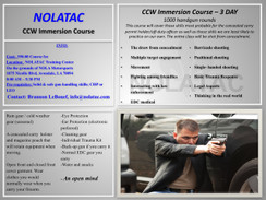 NOLATAC CCW Immersion Course