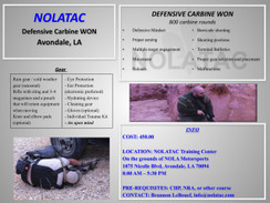 NOLATAC Defensive Carbine Won Course - SAT Mar 25-26, 2017
