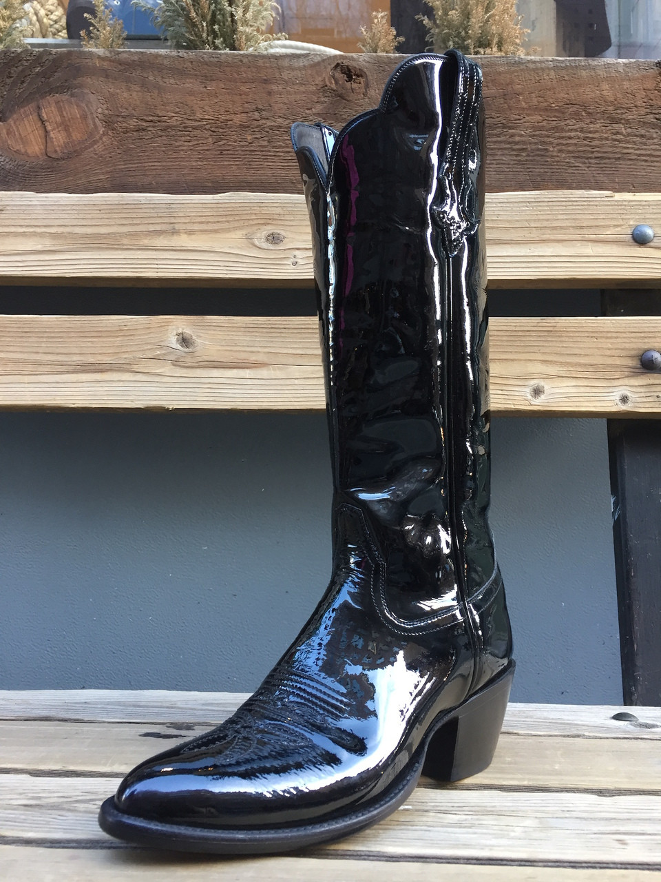 Patent Leather Cowgirl Boots