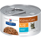 Hill's Feline k/d Vegetable & Tuna Stew (24 x 2.9 oz. Cans)