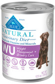 BLUE Natural WU Weight Management + Urinary Care  Canine (12/12.5oz Cans)