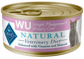 BLUE Natural WU Weight Management + Urinary Care  Feline (24/5.5oz Cans)