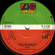 AC/DC  -   Rock 'n' roll damnation/ Sin City (5712/7s)