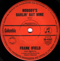 IFIELD,FRANK  -   Nobody's darlin' but mine/ You don't have to be a bay to cry (G53572/7s)