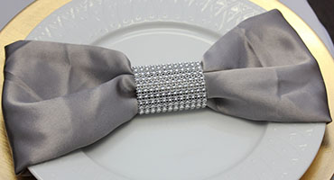 platinum napkin for weddings