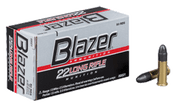 Blazer Ammunition 22 Long Rifle 40 Grain Lead Round Nose - 50RND Box