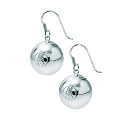 Rhodium plated or 14k gold plated Lacrosse dangling earrings