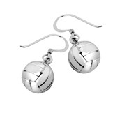 """Rhodium plated or 14K gold plated - 16mm (approx.5/8""""diameter) volleyball pendant"""