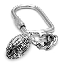 "16mm (approx.5/8""diameter) football on a keychain."