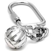 """16mm (approx.5/8""""diameter) water polo ball on a keychain."""