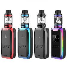 The Vaporesso Revenger 220W TC Starter Kit s the new flagship platform from Vaporesso, deploying the latest vaulted OMNI 2.0 Board with comprehensive output settings and forward-thinking designs to pair with the versatile NRG Sub-Ohm Tank. The Revenger 220W Box Mod has been constructed to integrates all of Vaporesso's most cutting-edge features, adopting an environmentally In-Mould Labeling (IML) injection on the durable aluminum alloy shell. The chassis implements a polished and streamlined design elements, with ergonomic contour and subtle modern accenting to create a phenomenal showcase piece. Powered by Vaporesso's most powerful chipset, the new OMNI Board 2.0 has an output range of 5 to 220W and multitude of output modes, such as Customized Curve of Wattage (CCW) and Customized Curve of Temperature (CCT) modes providing ample range of versatility. In CCW mode, users are able to customize wattage output second to second and ramp up control every half second, while CCT follows suit with customizable temperatures during use to allow users greater control. It also features Bypass Mode, Smart Variable Wattage Mode, and TCR Adjustments for additional standard methods of power. The integrated 0.96 Inch OLED display offers efficient use and adjustment, with a full aray of essential data alongside Real Time Clock setting. Included with each kit is the new Vaporesso NRG Sub-Ohm Tank, the latest flagship Sub-Ohm platform featuring 5mL juice capacity, Slide-n-Fill top-fill design, Delrin drip tip, dual bottom airflow control, and the introduction GT Cores. The GT Cores offers a wide range of coil options with traditional cotton and signature cCell Ceramic in each structure. Included in the set is a 0.15ohm GT 8 Core with a maximum wattage of 110W and a 0.15ohm GT 4 Core with a range of 30 to 60W. A fully sophisticated output technology with the integration of the powerful OMNI Board 2.0 and innovative exterior designs to pair with a high-performance tank and versatile coil structures, the Vaporesso Revenger 220W TC Starter Kit firmly asserts itself at the top of the competitive high-powered vape kits available in the market.  Check out the Vaporesso NRG GT Replacement Coils here.  Learn more about the upcoming Vaporesso Revenger Mini 85W Kit.  Vaporesso Revenger 220W TC Box Mod Features:  Dimensions: 89mm by 45mm by 28mm Dual High-Amp 18650 Batteries - Not Included Wattage Output Range: 5-220W Temperature Control Range: 200-600F Min Atomizer Resistance: 0.05ohm Innovative OMNI Board 2.0 Chipset Support Nickel, Titanium, and Stainless Steel Heating Elements Temperature Coefficient of Resistance Adjustments (TCR) Customized Curvature of Temperature (CCT) Customized Curvature of Wattage (CCW) Smart VW Mode Bypass Mode Real Time Clock Setting Real Charging Time Equalizing Charge System Intuitive 0.96 Inch OLED Display Durable Aluminum Alloy Construction In-Mould Labeling (IML) Injection - High-Resistant All Metal Oversized Firing Button MicroUSB Port 510 Connection Vaporesso NRG Sub-Ohm Tank:  26.5mm Diameter 5mL Juice Capacity Superior Stainlesss Steel Construction Pyrex Glass Reinforcement GT Cores - Features cCell Ceramic & Traditional Cotton 0.3ohm GT cCell Core - rated for 25-40W 0.4ohm GT 2 Core - rated for 45-80W 0.15ohm GT 4 Core - rated for 30-60W 0.2ohm GT 6 Core - rated for 50-130W 0.15ohm GT 8 Core - rated for 60-110W 14mm Delrin Widebore Drip Tip Slide-n-Fill Design - Convenient Top-Fill Heating Insulation Layer on Base 510 Connection Includes:  1 Revenger 220W Mod 1 NRG Sub-Ohm Tank 1 0.15ohm GT 8 Coil Head 1 0.15ohm GT 4 Coil Head 1 Replacement Glass Tube 1 510 Drip Tip Adapter 1 MicroUSB Cable Instructional Manual In order to use temperature control feature, it requires use of nickel, titanium, or stainless steel coils and must be built with non-resistant wire.   This product is for advanced user only! Please have a great understanding and technical knowledge on how to use this product in order to properly use it. Use it at your own risk!   Note: There is always an inherent risk when using any rechargeable batteries at anytime and under any circumstances. ElementVape.com and any of ElementVape.com's parent and subsidiary companies are not held responsible for any damage for any modification of the batteries, chargers, devices and other products that we carry in any form or shape, this is including pack making.   ElementVape.com and any or all of ElementVape.com's parent and subsidiary companies will not be held responsible or liable for any injury, damage, or defect, permanent or temporary that may be caused by the improper use of a Li-ion (Lithium-ion), LiPo (Lithium-ion Polymer) and any rechargeable battery/batteries as well as chargers. Please have a greater understanding of the batteries/chargers you are using and how to care for them properly.   When working with Li-ion (Lithium-ion), LiPo (Lithium-ion Polymer) and any rechargeable cells, please be cautious and carefully use as they are very sensitive to charging characteristics and may explode or burn if mishandled. Please make sure that you have great knowledge on all rechargeable batteries before you use them. Always charge batteries at the clean and fire-proof surface. Never leave charging batteries unattended. If you see that there are visible damages on the batteries, please do not use. Always keep, store and transport the rechargeable cells in a safe, non-conductive container in controlled environment   Do not use any rechargeable battery as well as any battery charger if any visible damage is present, as well as if the cell or charger has been stressed through mishandling, accidental or otherwise, even if damage may not be visible. Always store and transport rechargeable cells in a safe, non-conductive container in a controlled environment. Please dispose battery cells, chargers or any other electronic devices in accordance of local laws and mandates.