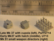 Sample parts in grey primer - Mk37's loose, Mk 51's on wafer