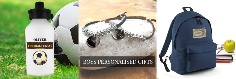 Boys personalised gifts UK