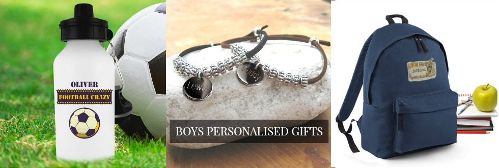 Boys personalised gifts UK