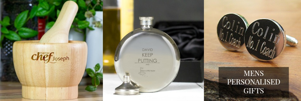 Mens personalised gifts UK