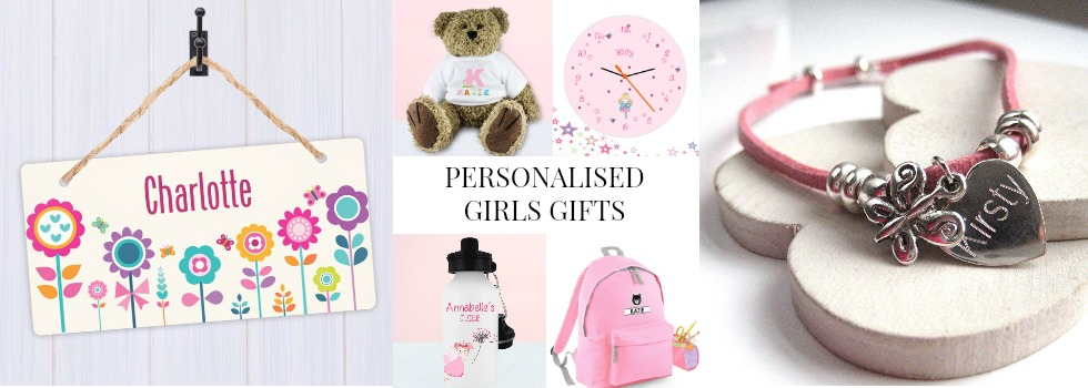 personalised gifts for girls UK