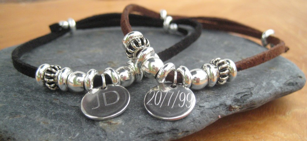 Personalised Mens jewellery gifts