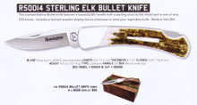"Remington - 2018 Bullet Knife ""Sterling Elk"" lockback - R50014"