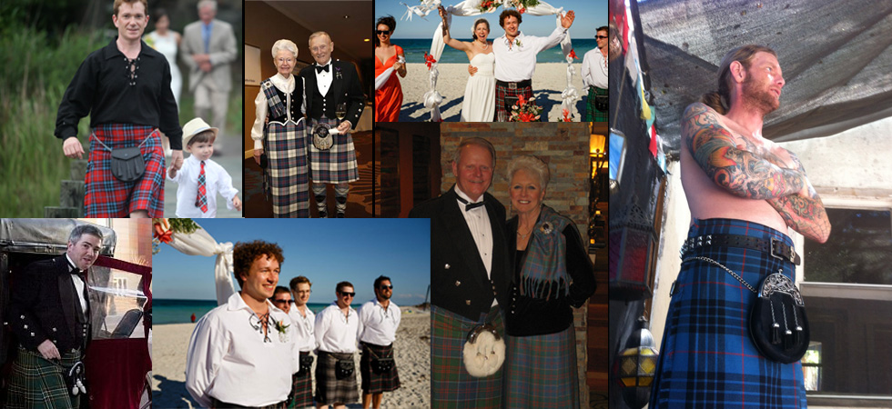 Happy Kilt and Highland Wear Customers