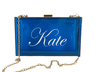 Tara Bag, Acrylic Clutch, Personalized Handbag, Name, Monogram, Script