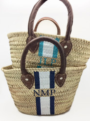 Abby Small Hand Painted Straw Tote