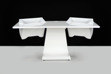 Zaor iDESK Workstation-White Gloss