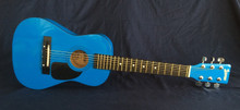 LAUREN-MINI ACOUSTIK GUITAR. METALIC BLUE