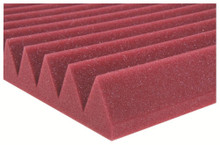 "Auralex 2SF24RED  2"" Studiofoam Wedges (12-pack, 2'x4'x2"", Red)"