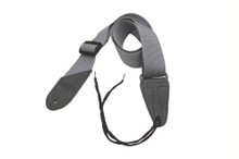 GSA10GR Guitar Strap with Leather Ends (Gray)
