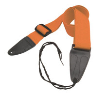 GSA10OR Guitar Strap with Leather Ends (Orange)