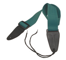 GSA10GE Guitar Strap with Leather Ends (Green)