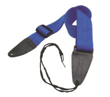 GSA10BL Guitar Strap with Leather Ends (Blue)