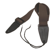 GSA10BR Guitar Strap with Leather Ends (Brown)