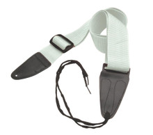 GSA10WT Guitar Strap with Leather Ends (White)