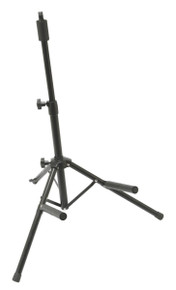 Heavy-duty steel tripod base adjusts to accommodate various sized amps