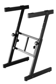 Z-frame allows playing from either side and can be broken down and locked together for transport