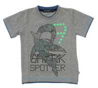 ELIAS 26 Shark Spotter T-Shirt in Grey