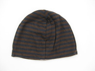Reversible Hat in Heaven/Espresso Stripes