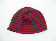 Reversible Hat in Tulip/Deep Viola Stripes