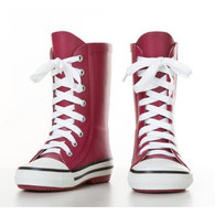 BURGUNDY City 'Welly' Boots
