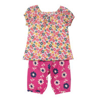 *Sale!* Flower Blouse and Cropped Trousers Set