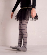 MUSTACHE Grey Tights