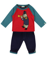 *40% Off!* Marching Bear Woven Set